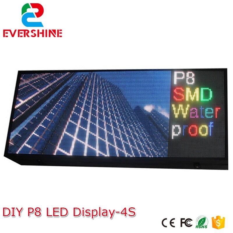 Good Group! DIY Kit <font><b>LED</b></font> Display Include <font><b>P8</b></font> SMD3in1 30PCS <font><b>LED</b></font> Modules + 1 pcs RGB <font><b>LED</b></font> Controller + 4 pcs <font><b>LED</b></font> Power Supply