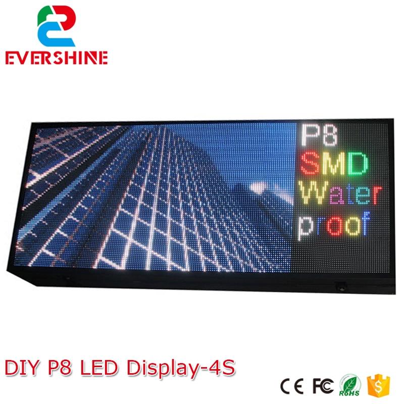 bom grupo kit diy levou exibicao incluem p8 smd3in1 30 pcs modulos de led 1 pcs