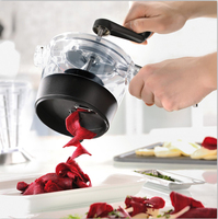 Multifunction kitchen accessories gadget four in one hand screw grater spiral slicer salad cutter bowl tools