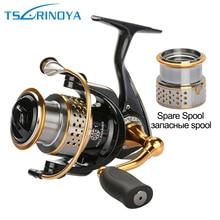 Tsurinoya Metallic Fishing Reels Spinning Reel Left / Proper Hand with one Spare Spool 9BB Carp Fishing Reel