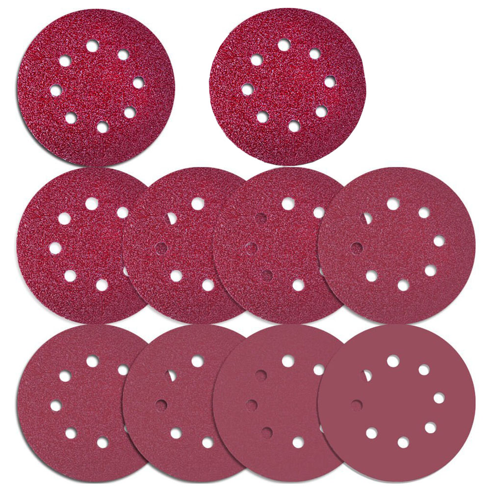 76 Pcs 8 Holes Sanding Discs, 5 Inch Hook and Loop include 40/ 60/ 80/ 100/ 120/ 180/ 240/ 320/ 400/ 800Grit Sandpaper for Ran