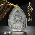 2 sztuk w stylu klasycznym buddyjski kieszeń podróży skuteczne maskotka pomyślny talizman Vajrasattva budda kryształ wisiorek buddyjski Amulet Posągi i rzeźby    -