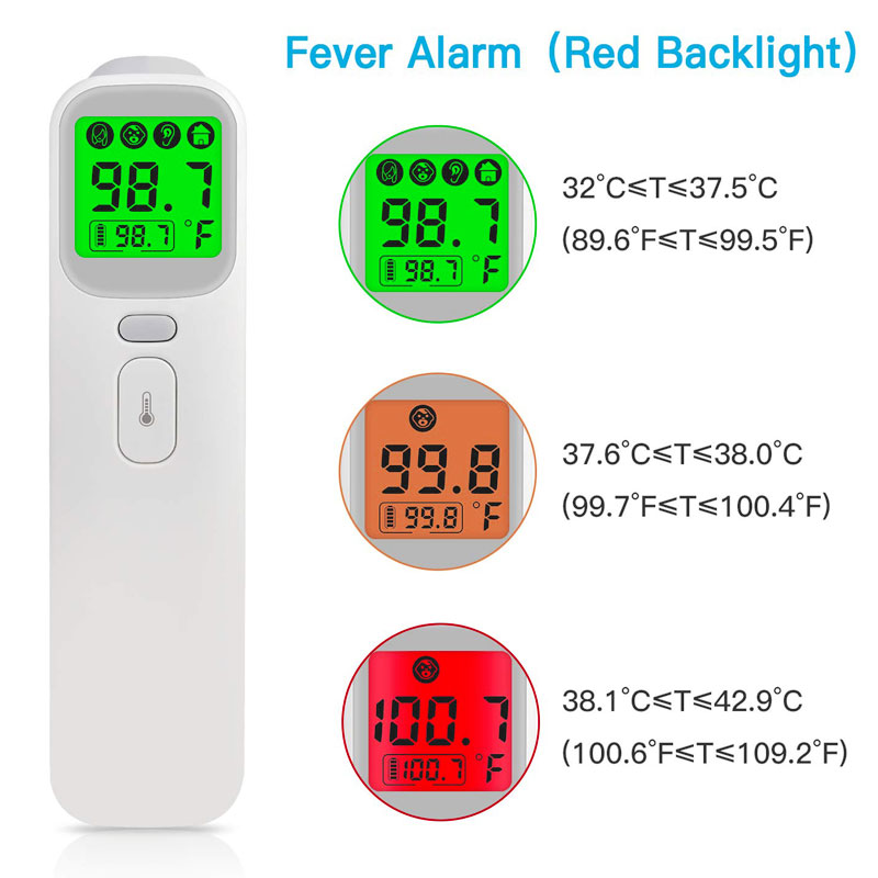 2019 New Baby Thermometer Infrared Digital LCD Body Measurement Forehead Ear Non-Contact Adult Body Fever IR Children Termometro