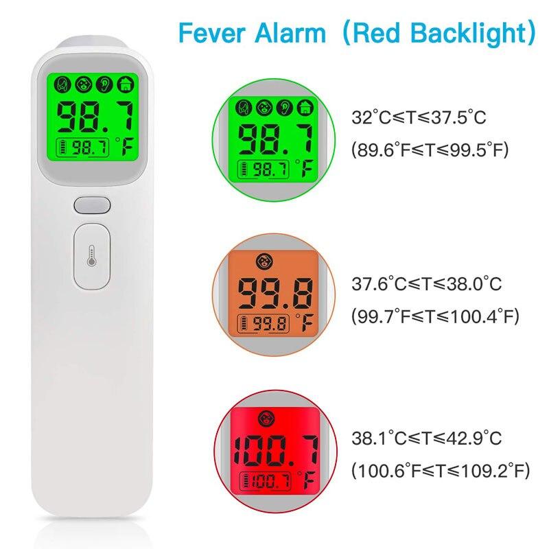 2019 Novo Bebê Termômetro Digital Infravermelho Corpo LCD Medição Febre Corpo IR Testa Orelha Não-Contato Para Adultos Crianças Termometro