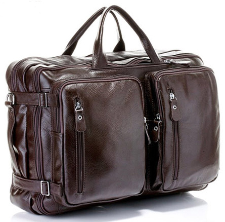 6c06c60683af Multi-Function Genuine Leather Men s Travel Bag Luggage travel bag Leather Duffle  Bag Large Men