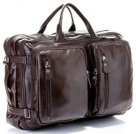 Multi Function Genuine Leather Men s Travel Bag Luggage travel bag Leather Duffle Bag Large Men