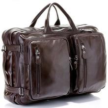 Многофункциональная мужская дорожная сумка из натуральной кожи, дорожная сумка для багажа, кожаная дорожная сумка, большая мужская сумка на выходные, большая спортивная сумка