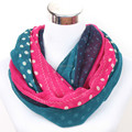 foulard femme New brand from india autumn scarves for women blue green small dots infinity scarf  gift for her women