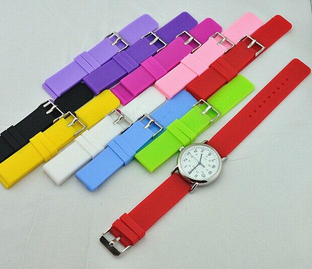 Wholesale 50PCS lot 12MM 14MM 16MM 18MM 20MM 22MM 24MM rubber watch bands rubber watch straps