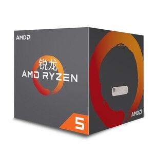 Image 2 - AMD Ryzen 5 1400 R5 1400 CPU orijinal işlemci 4 çekirdek 8 konuları soket AM4 3.2GHz 65W 10MB önbellek 14nm masaüstü YD1400BBM4KAE