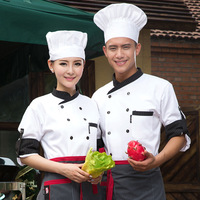 New Chef Jacket Food Service Long Sleeved Hotel Chef Uniform Double Breasted Chef Clothing