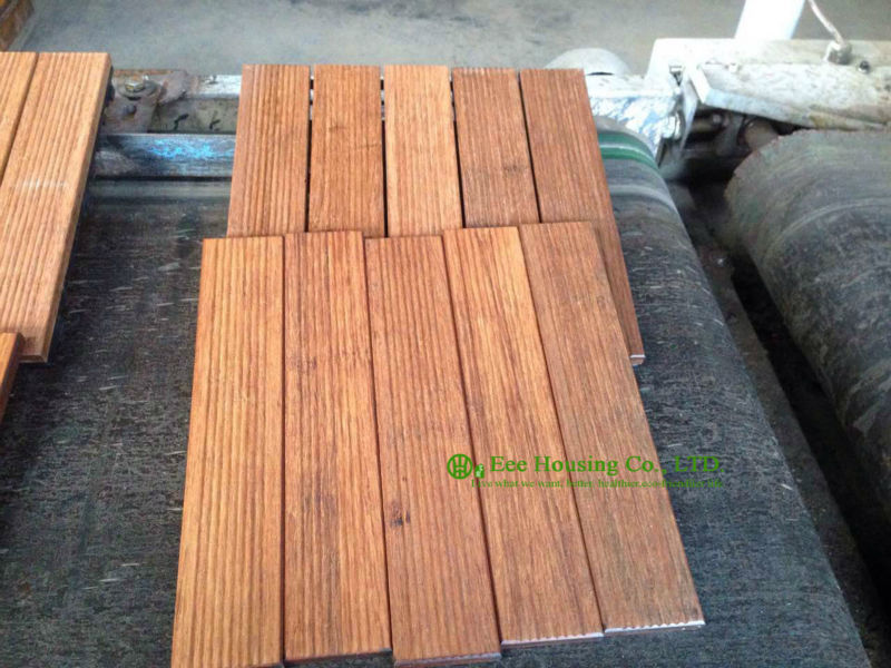 Outdoor Bamboo Floor Tiles 300x300x25mm Bathroom Floor Tile For