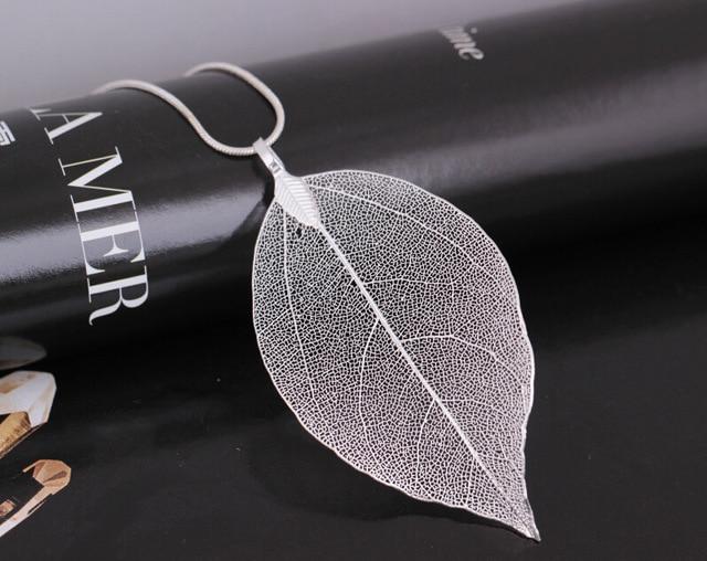 Купить lzhlq 3 шт листьев лист кулон ожерелье длинная цепь ювелирные