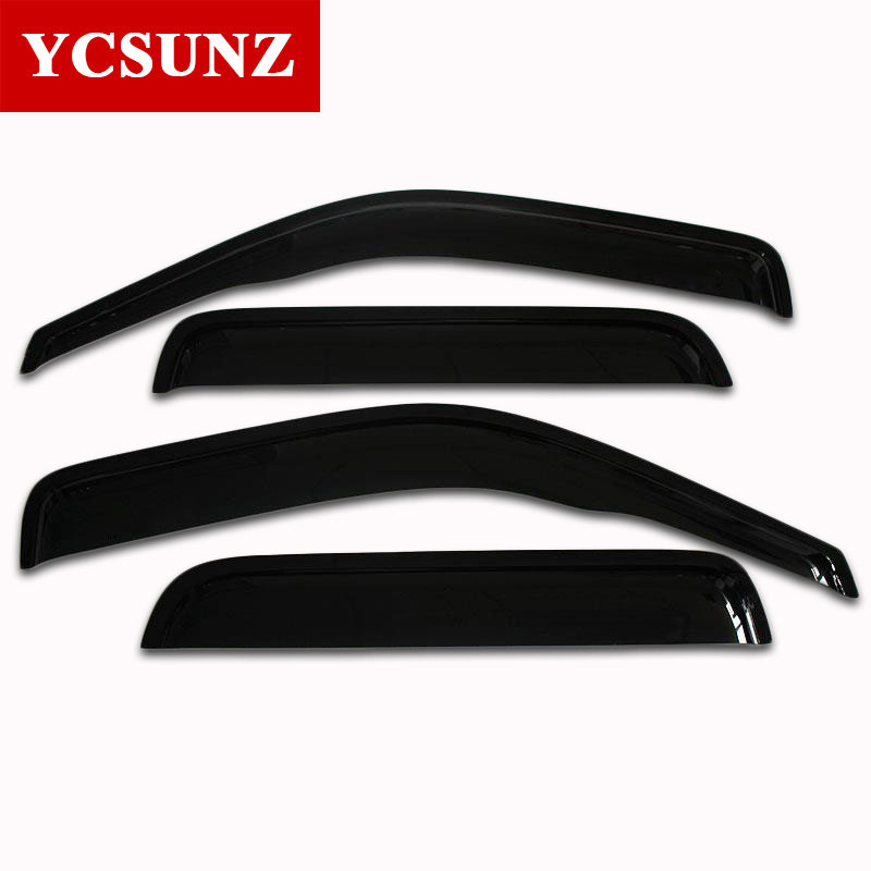 Car Wind Deflector Black Car Window Deflectors Visor Vent shade rain sun guard For Mazda Bt50