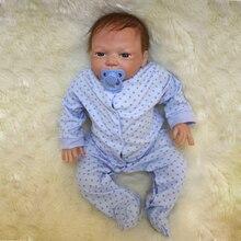 New 46cm 18inch Handmade Reborn Doll Newborn Baby Lifelike Soft Vinyl silicone Gift