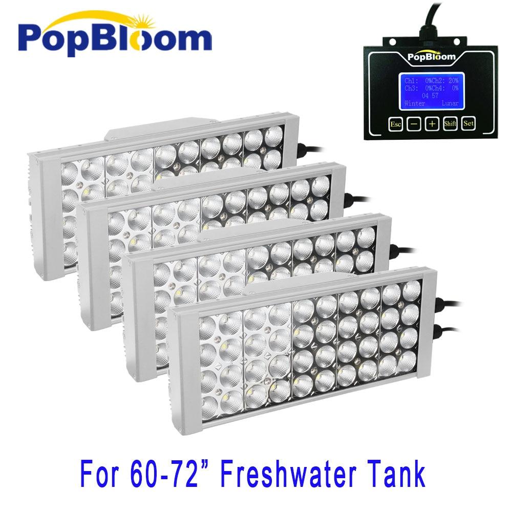 DSunY 150-200 cm full spectrum 400 W aquário conduziu a iluminação regulável planta de água doce tanque luar lâmpada aquarios inteligente fã pecera