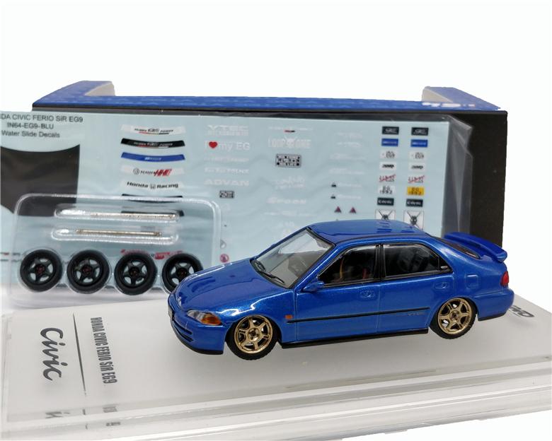 1:64 INNO64 Honda Civic FERIO EG9 Blue Diecast Model Car