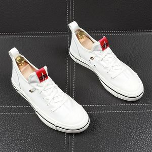 Image 3 - CuddlyIIPanda Men Fashion Casual Shoes Youth Trending Genuine Leather Breathable Leisure Street Shoes Male Luxury Designer Shoes
