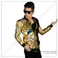Ночной клуб рок dj певец костюм блестками куртка ночной бар этап наряд моды для dancer звезды ночной клуб производительности шоу