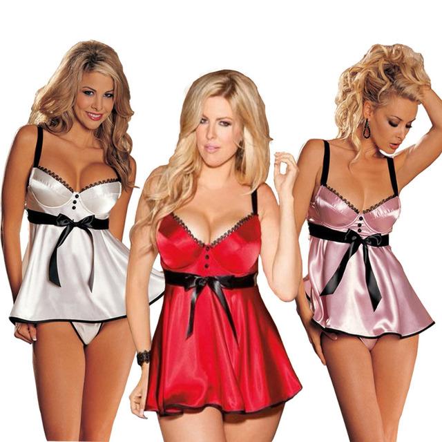 Mulheres Sexy Lingerie Vestido Roupa Babydoll Lingerie Babydolls Mulheres À Moda Com Tiras Sem Costas Vestido com G-corda Pijamas 178