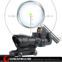 Greenbase ACOG Style Wide Field Of View GB 01NSN 4X32 Scope Arrow BDC Reticle With RM