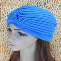 Men Women Polyester Elastic Retro Turban Hat Beanies Solid Color Stocking Hat Skullies Pocket Indian Head Wrap Cap Bonnet
