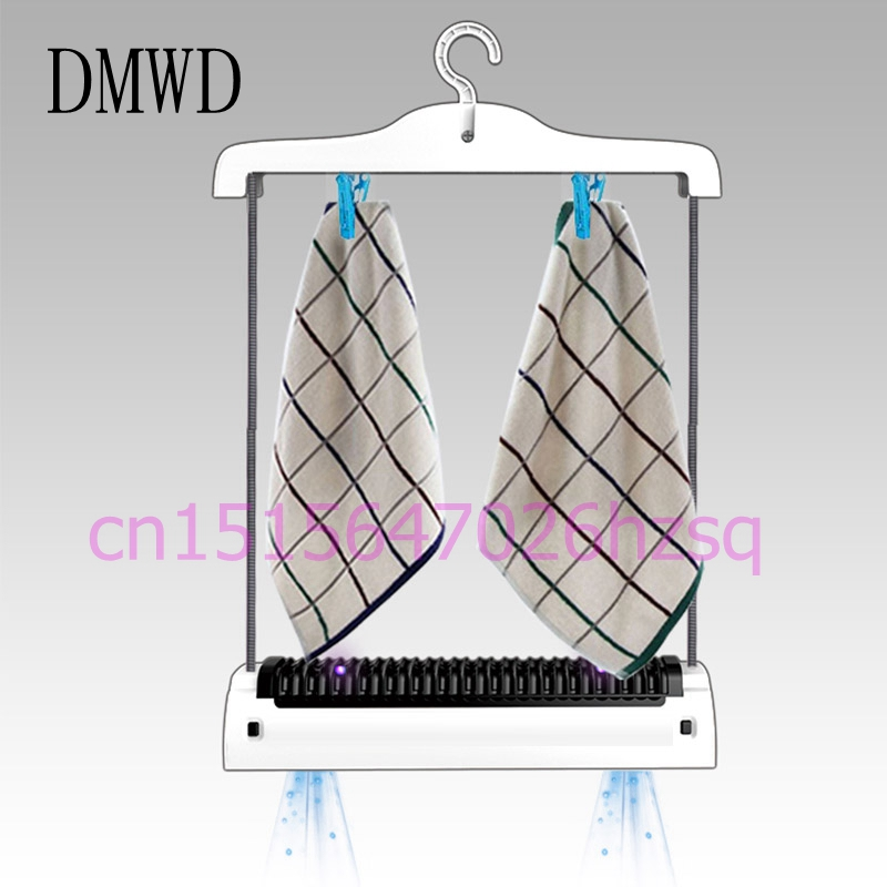 цены DMWD Portable Household Mini Clothes Dryer Quick-Drying Foldable Mute UV Sterilization Dual-Core Heating Waterproof Remove Odor