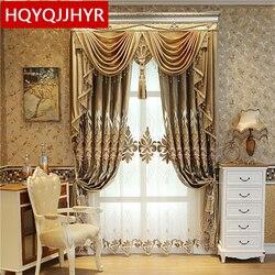 Europejskie i amerykańskie królewskie luksusowe aksamitne zasłony na okno sypialni z wysokiej jakości zasłona typu woal do salonu willi
