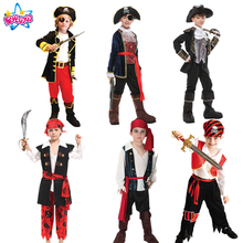 Halloween Costume for Boy Boys Kids Children Pirate Costumes Fantasia Infantil Cosplay Clothing Pirates of the Caribbean Dress  цена в Москве и Питере