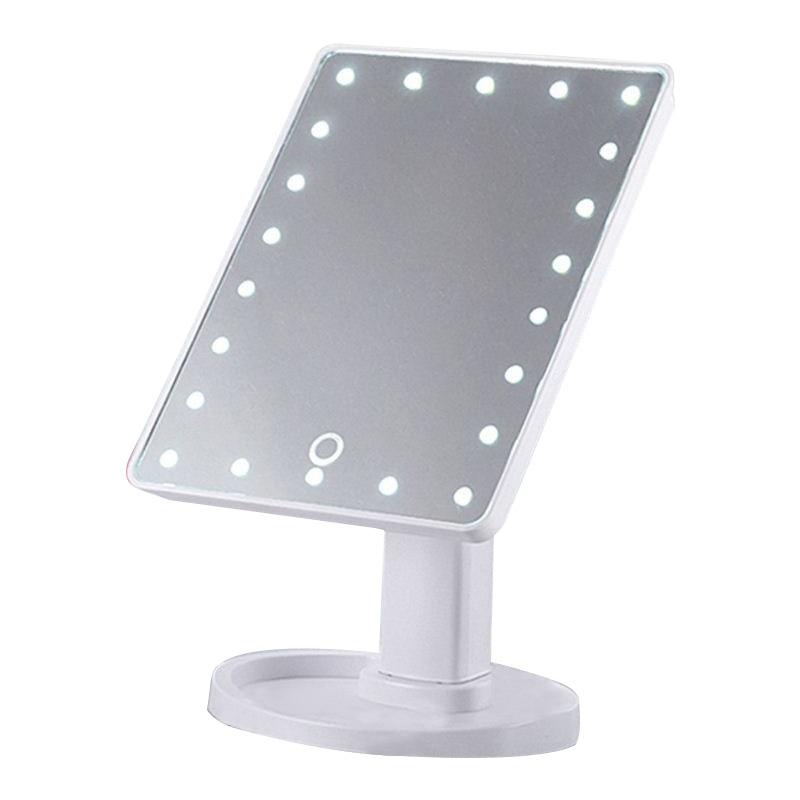 Haut Pflege Werkzeuge Spiegel Vornehm Vergrößerungs Make-up Spiegel Mit Led-leuchten 16/22 Led Touchscreen Tabelle Desktop 10x Spiegel Eitelkeit Folding Einstellbare Spiegel