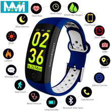 Q6S Smart Band Heart Rate Monitor Waterproof Bracelet Fitness Tracker Blood Pressure Watch VS mi band 3