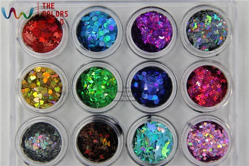 TCT-018 Laser Kleur (Holografische) 12 soorten kleur en 12 soorten - Nagel kunst - Foto 4