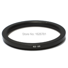 62-55mm Step-Down Steel Lens Adapter Filter Ring / 62mm Lens to 55mm Accent