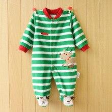 Unisex Christmas Fleece Long Sleeve Baby Rompers