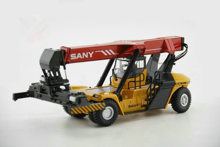 1:50 Alloy Diecast Reach Stacker Toy Container Crane Engineering Vehicle Model