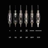 100 pcs Charmant needles Screw Tattoo Needles 1RL Cartridge Needle for Micropigment Device Permanent Make up Machine eyebrow lip