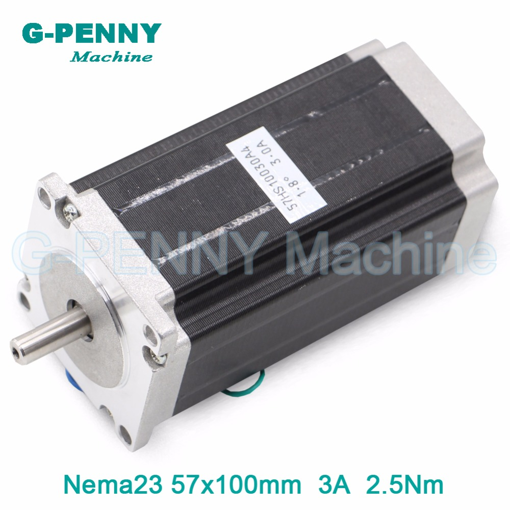 цена на CNC NEMA 23 stepper motor 57 X 100mm 3A  2.5N.m stepping motor 357Oz-in 8mm shaft for engraving milling machine for 3D printer