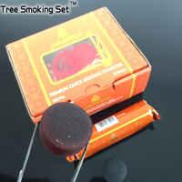 Al fakher del carbone di legna 100 pz 33mm rapidamente luce carbone per shisha narghilè chicha narghilè Albero Insieme di Fumo