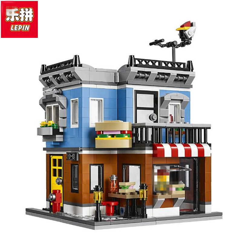 LEPIN City Creator 3 in 1 Corner Deli Building Blocks Bricks Kids Classic Model Toys For Children Marvel Compatible 2016 new lepin 15006 2354pcs creator palace cinema model building blocks set bricks toys compatible 10232 brickgift