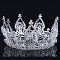2016 new Bridal Princess Austrian Stunning Crystal Hair Tiara Wedding Crown Veil Headband wedding tiaras for brides
