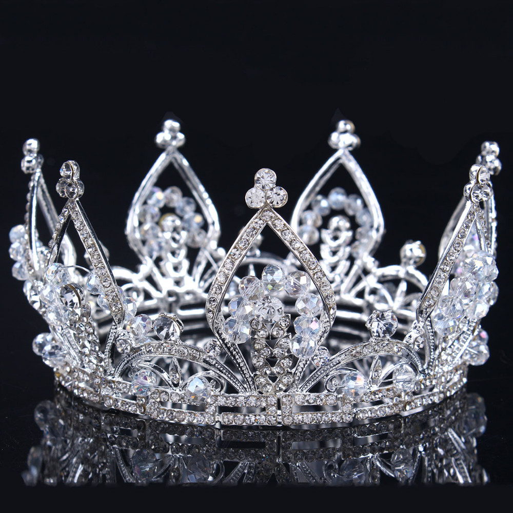 2017 new Bridal Princess Austrian Stunning Crystal Hair Tiara Wedding Crown Veil Headband wedding tiaras for