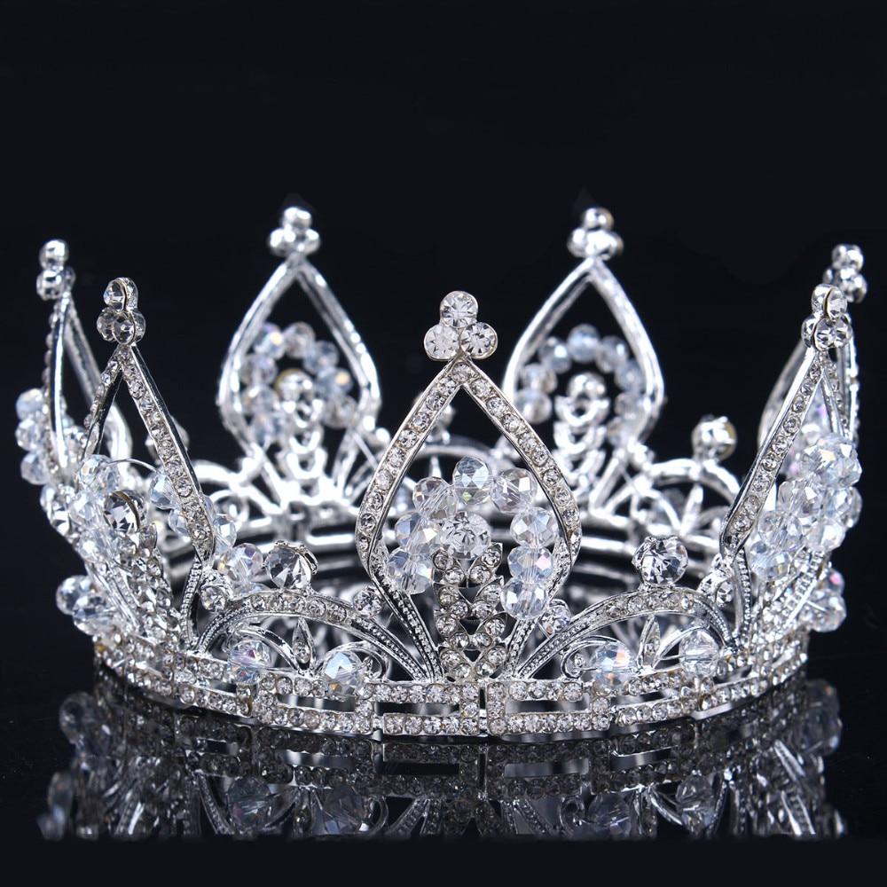 2017 new Bridal Princess Austrian Stunning Crystal Hair Tiara Wedding Crown Veil Headband wedding tiaras for brides