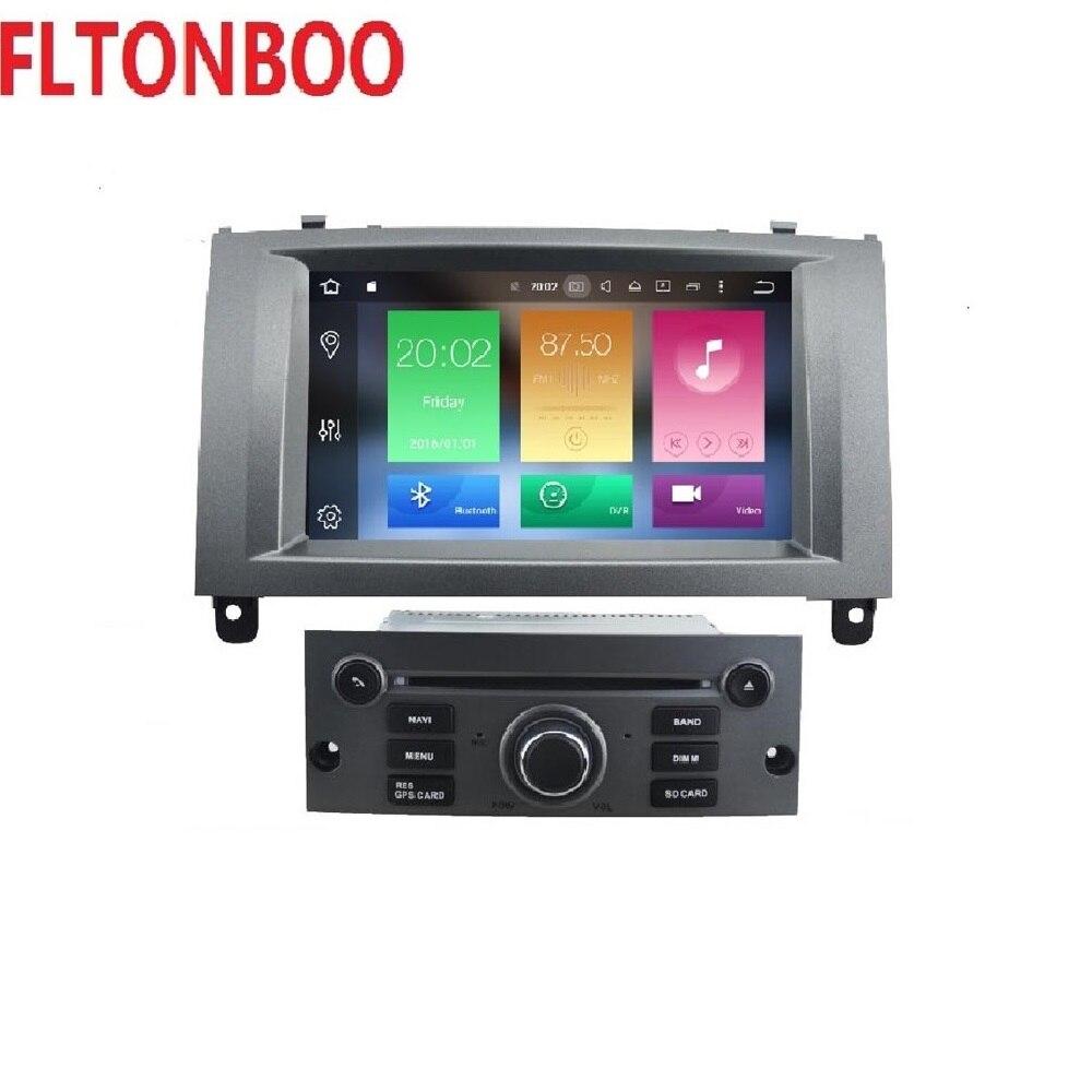 7 pouce 2 din 4 gb RAM 32 gb ROM android 8.0 voiture de navigation gps pour Peugeot 407 2004- 2010, wifi, octa core