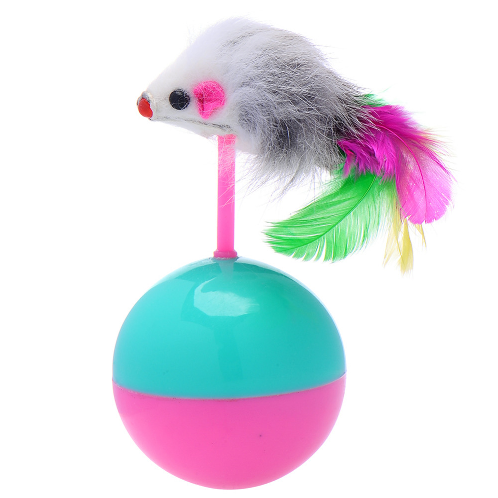 Fun Cat Toys : Pet dog cat toys funny supplies mouse tumbler toy