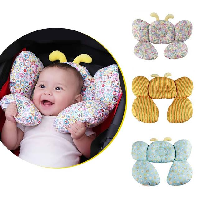 Bee Shape Cotton Baby Shaping Pillow Stroller Equipment U-shaped neck pillow Baby Infant Neck Care Accessories Decorative Pillow