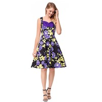 Lily Rosie Girl Women 2018 Deep O Neck Sexy Boho Style Summer Party Dress Floral Casual