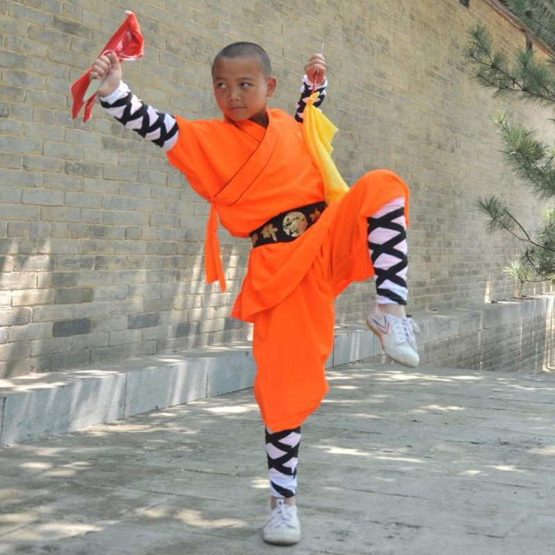 USHINE Professional Shaolin Monk KungFu Uniforms Martial Arts WingChun Suit For Children Adult