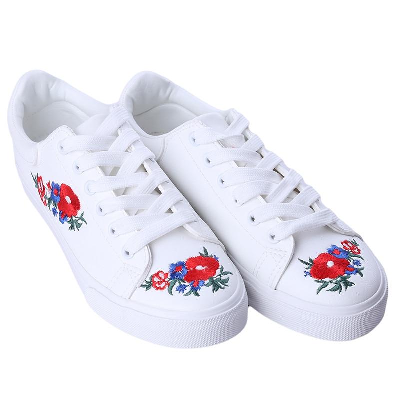 Prix pour Planche à roulettes Chaussures Femmes de Sneakers Low Top Blanc lacent Chaussures Respirant Sneakers Sport Cool Chaussures