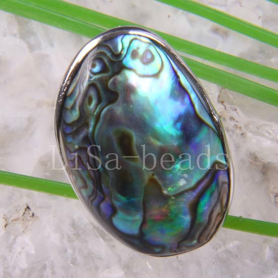 1 stk Gratis forsendelse Modesmykker New Zealand Abalone Shell Ring justerbar Z102