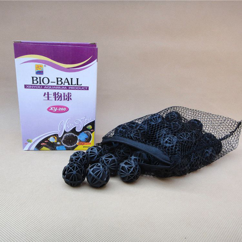 50 psc pack 26mm bioballs xy 260 bio balls with sponge for Pond bio balls cleaning